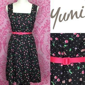 Yumi cherry pin up Dress
